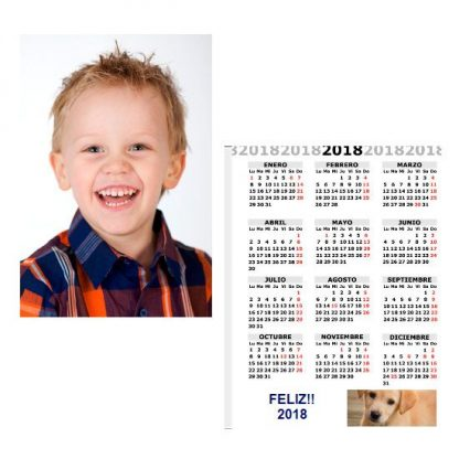 calendario personalizado 2018