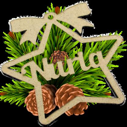 Estrella personalizada para el arbol de Navidad